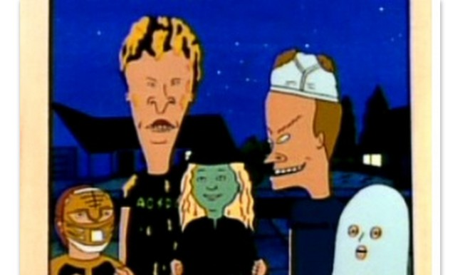 Butthead dressed as nachos on Beavis and Butthead