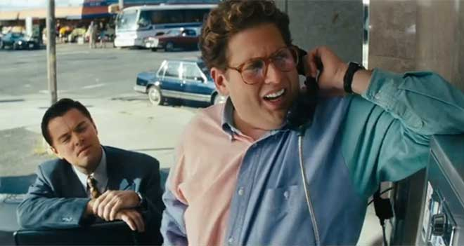 "Leonardo DiCaprio and Jonah Hill in ""The Wolf of Wall Street"" (Photo courtesy of Paramount Pictures)"