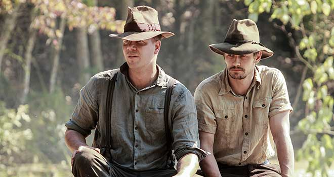 "Jim Parrack and James Franco in ""As I Lay Dying"" (Photo courtesy of Ayala Malls Cinemas)"