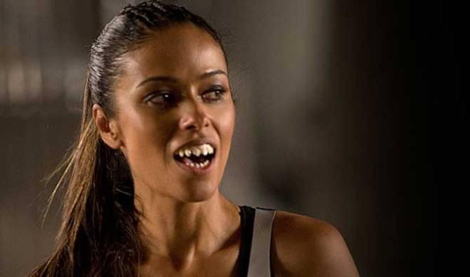 Meta Golding as Enobaria (Photo courtesy of Lionsgate)