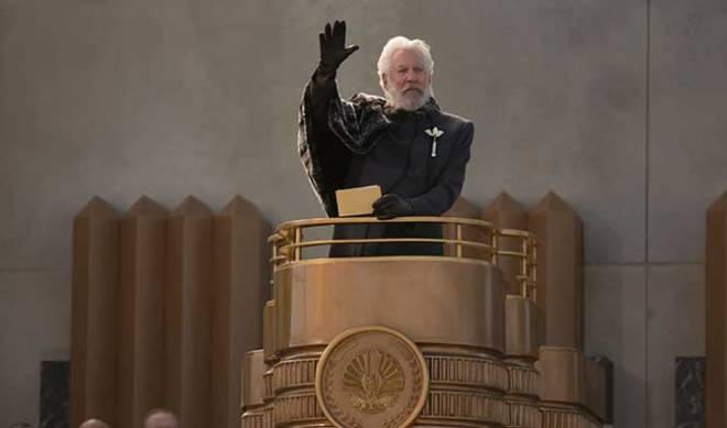 "Donald Sutherland as President Snow in ""The Hunger Games: Catching Fire"" (Photo courtesy of Lionsgate)"