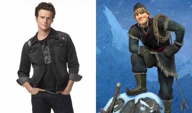 "Known to TV audiences as Jesse St. James on ""Glee"", Jonathan Groff voices one of the male protagonists in ""Frozen."""