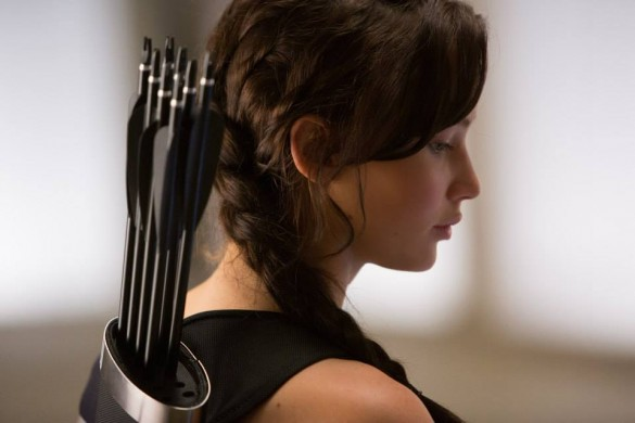 Academy Award winner Jennifer Lawrence as Katniss Everdeen in The Hunger Games: Catching Fire