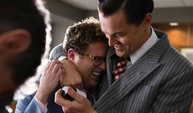 Jonah Hill and DiCaprio (Photo courtesy of Paramount Pictures)