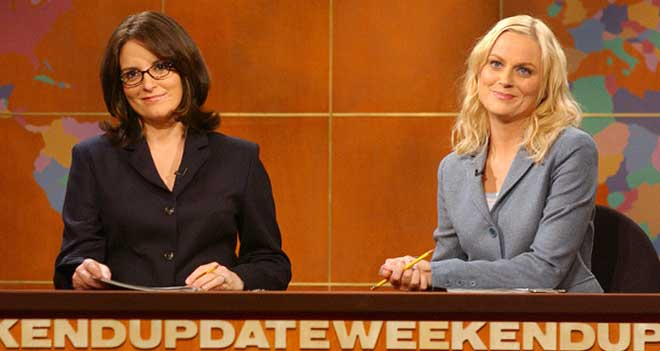 "Tina Fey and Amy Poehler on ""Saturday Night Live"" (Photo courtesy of YouTube)"