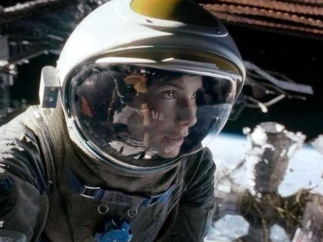 Gravity, starring Sandra Bullock and Georg