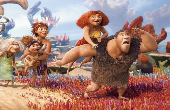 The Croods, featuring the voices of