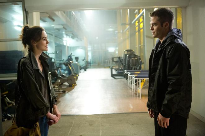 "Keira Knightley and Chris Pine in ""Jack Ryan: Shadow Recruit"". (Photo Courtesy of Paramount Pictures)"