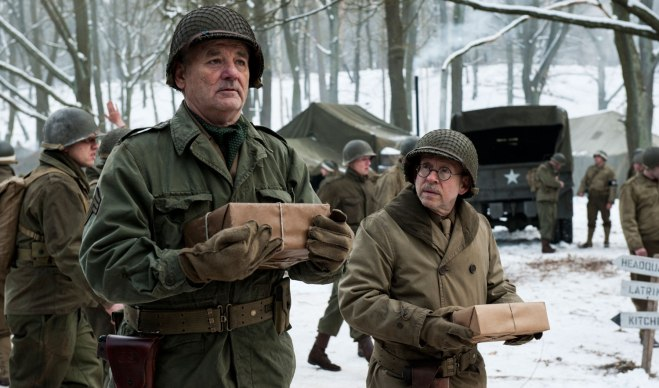 "Bob Balaban, with Bill Murray in ""The Monuments Men"" (Photo courtesy of 20th Century Fox)"