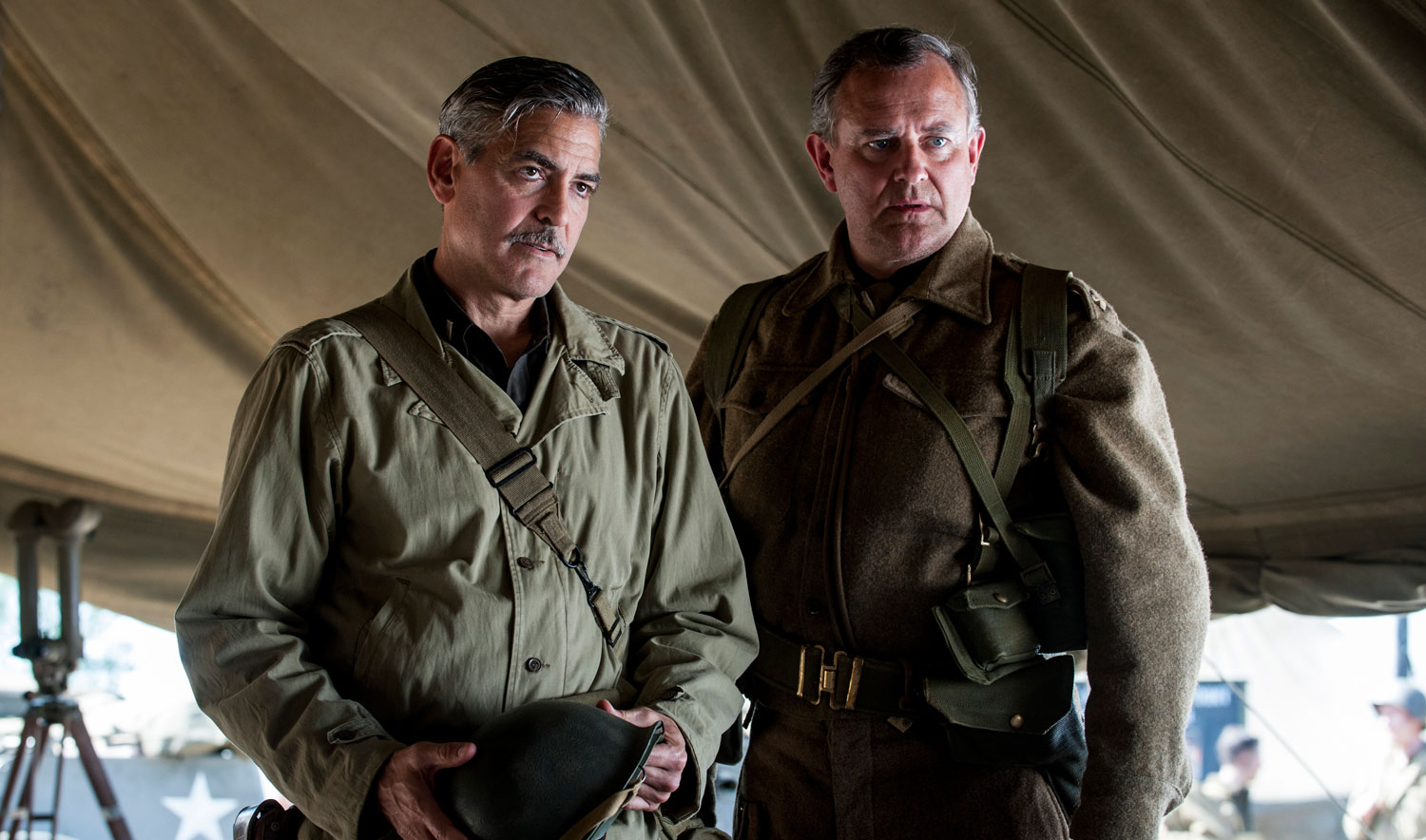 """Hugh Bonneville, with George Clooney in """"The Monuments Men"""" (Photo"""