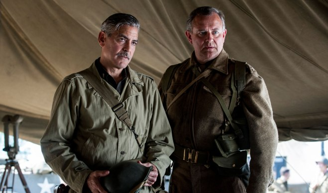 "Hugh Bonneville, with George Clooney in ""The Monuments Men"" (Photo courtesy of 20th Century Fox)"