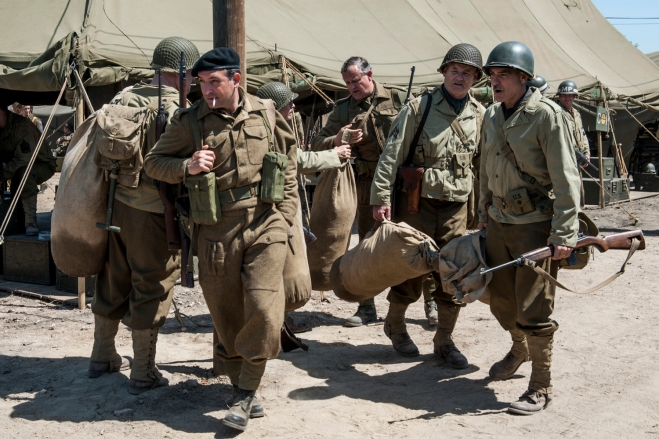"Jean Dujardin, with his castmates in ""The Monuments Men"" (Photo courtesy of 20th Century Fox)"
