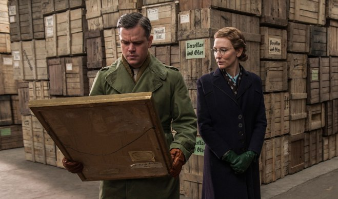 "Matt Damon and Cate Blanchett in ""The Monuments Men"" (Photo courtesy of 20th Century Fox)"