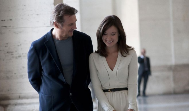 "Liam Neeson and Olivia Wilde in ""Third Person"" (Photo courtesy of Ayala Malls cinemas)"