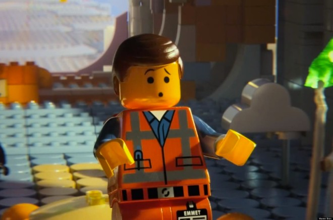 The LEGO Movie stars Chris Pratt as the voice of lead character Emmet (Photo courtesy of Warner Bros.)