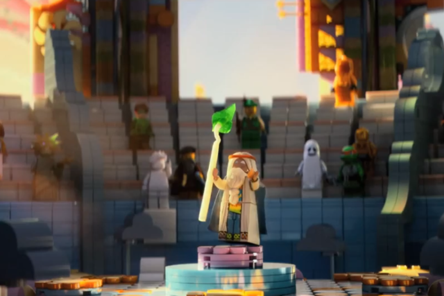 Among The LEGO Movie's star-studded cast is Morgan Freeman as the vice of the old wizard Vitruvius