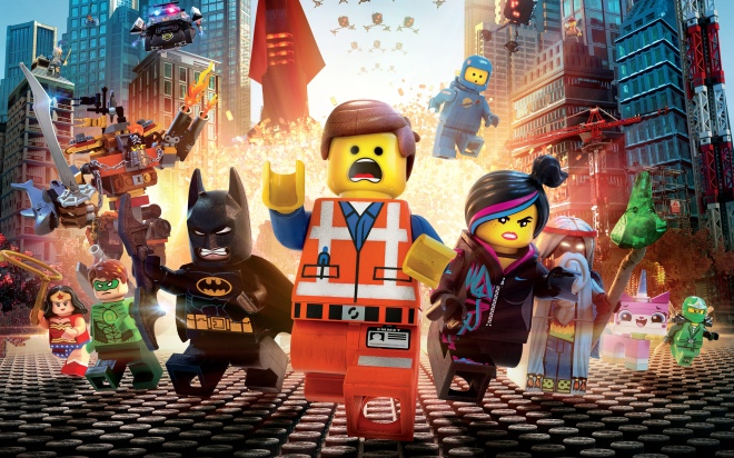 The LEGO Movie starring the voices of Chris Pratt, Will Ferrell, Elizabeth Banks, Will Arnett, Nick Offerman, Alison Brie, Charlie Day, Liam Neeson, and Morgan Freeman.