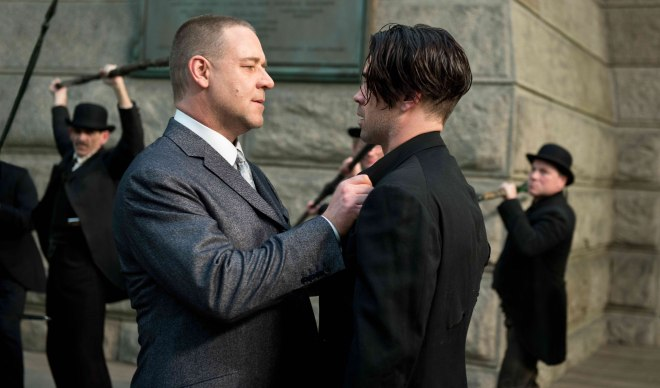 "Russell Crowe and Colin Farrell in ""Winter's Tale"" (Photo courtesy of Warner Bros.)"