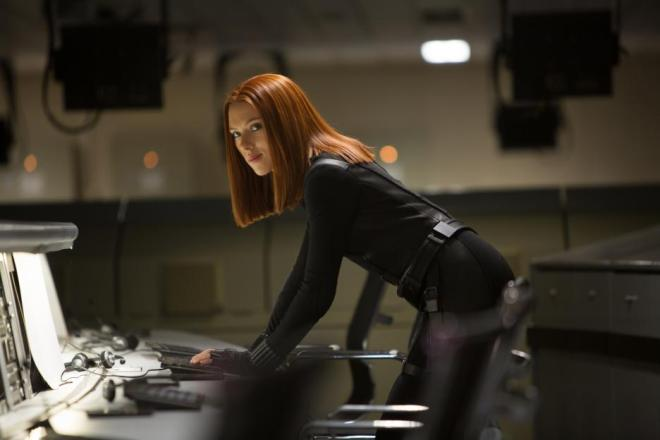 "Scarlett Johansson in ""Captain America: The Winter Soldier"" (Photo courtesy of Marvel/Walt Disney Studios Motion Pictures)"