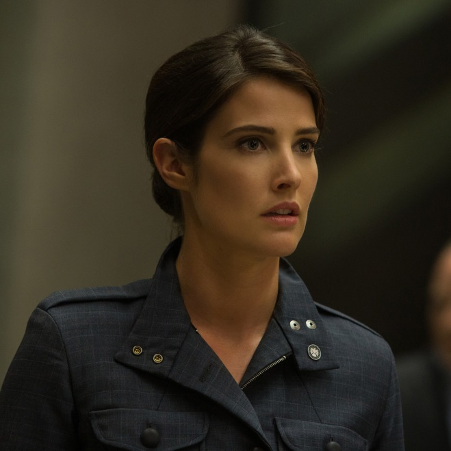 """Cobie Smulders as Agent Maria Hill in """"Captain America: The Winter Soldier"""" (Photo courtesy of Marvel/Walt Disney Studios Motion Pictures)"""