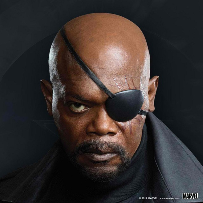 """Samuel L. Jackson as Nick Fury in """"Captain America: The Winter Soldier"""" (Photo courtesy of Marvel/Walt Disney Studios Motion Pictures)"""
