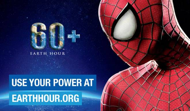 Earth Hour 2014 happens on March 29 at 8:30 PM. (Photo courtesy of earthhour.org/Columbia Pictures)