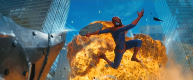 "Watch out! Lots of stuff will be thrown at you while watching ""The Amazing Spider-Man 2,"" in Philippine cinemas April 30. (Photo courtesy of Columbia Pictures)"
