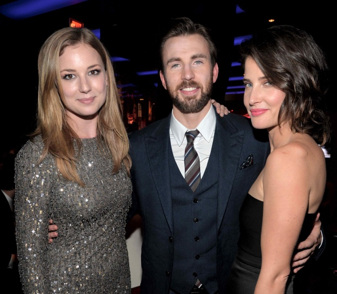 Emily VanCamp, Chris Evans, and Cobie Smulders (Photo courtesy of Walt Disney Studios Motion Pictures)