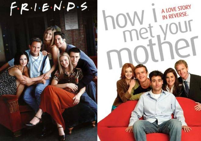 """""""Friends"""" (1994-2004) and """"How I Met Your Mother"""" (2005-2014) (Photos courtesy of NBC and CBS, respectively)"""