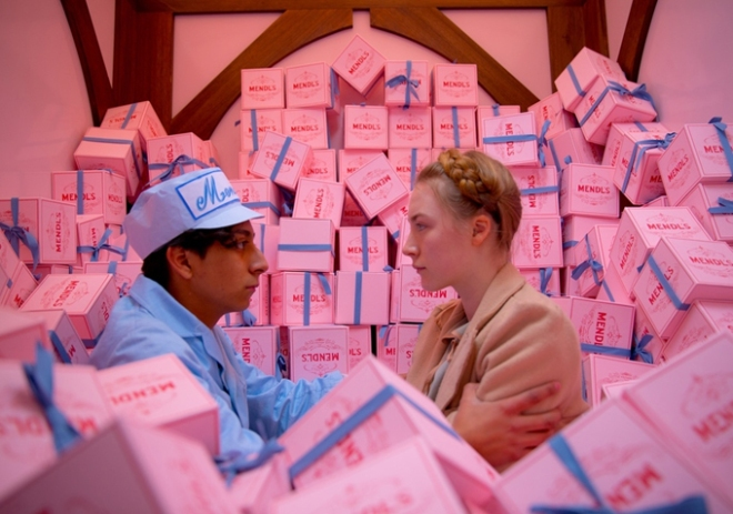 "Tony Revolori and Saoirse Ronan in ""The Grand Budapest Hotel"" (Photo courtesy of Fox Searchlight Pictures)"