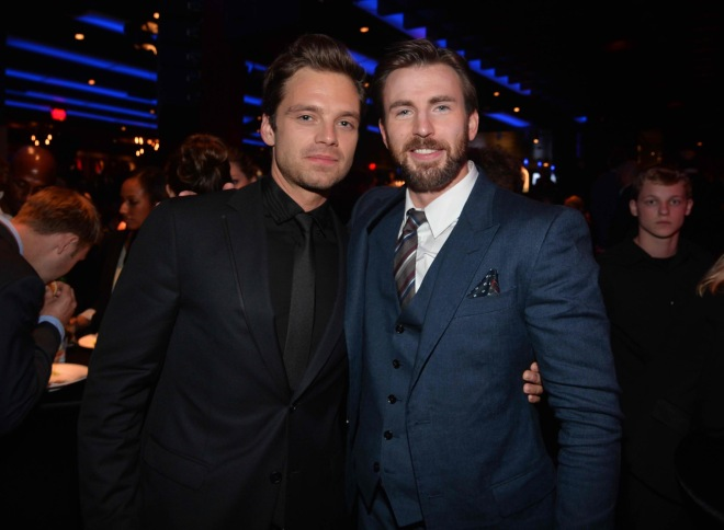 Sebastian Stan and Chris Evans (Photo courtesy of Walt Disney Studios Motion Pictures)