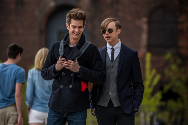 """Andrew Garfield as Peter Parker, and Dane DeHaan as Harry Osborn """"The Amazing Spider-Man 2"""" (Photo courtesy of Columbia Pictures)"""