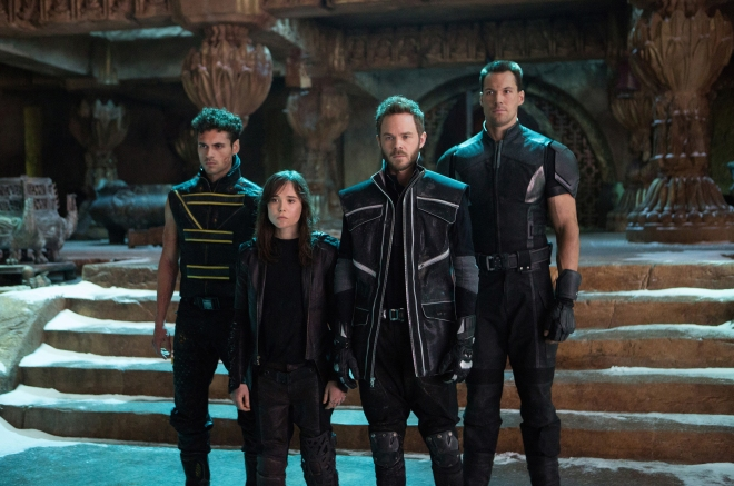 "Adan Canto as Sunspot, Ellen Page as Shadowcat/Kitty, Shawn Ashmore as Iceman, and Daniel Cudmore as Colossus in ""X-Men: Days of Future Past"" (Photo courtesy of 20th Century Fox)"