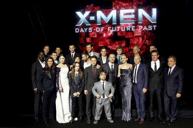 "The all-star cast of ""X-Men: Days of Future Past"""