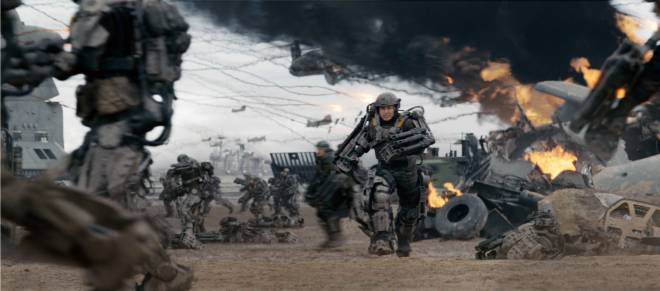 "Tom Cruise dies on repeat in ""Edge of Tomorrow"" (Photo courtesy of Warner Bros.)"
