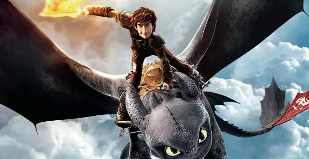 "Hiccup (Jay Baruchel) and Toothless in ""How to Train Your Dragon 2"" (Photo courtesy of DreamWorks Animation)"