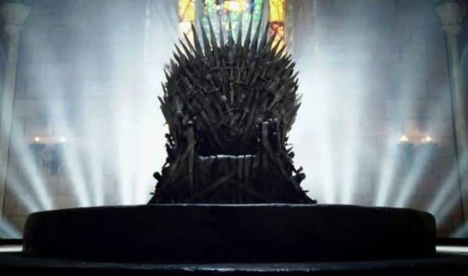 The Iron Throne as envisioned by HBO. George R. R. Martin has lauded HBO's version of the Iron Throne but... The HBO throne has become iconic. And well it might. It's a terrific design, and it has served the show very well. (…) And yet, and yet… it's still not right. It's not the Iron Throne I see when I'm working on THE WINDS OF WINTER. It's not the Iron Throne I want my readers to see.