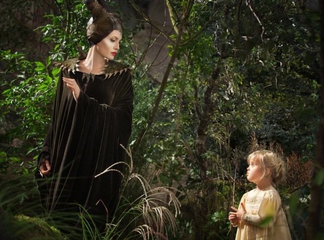 "A must-see! Angelina Jolie staring down her 5-year-old daughter Vivienne Jolie-Pitt in ""Maleficent"" (Photo courtesy of Walt Disney Studios Motion Pictures International)"