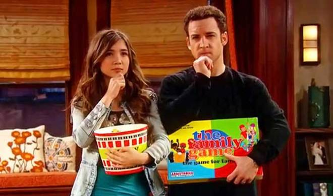 "Rowan Blanchard and Ben Savage in a scene from the opening credits of ""Girl Meets World."""