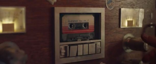 "Quill's (Chris Pratt) mixtape in ""Guardians of the Galaxy."" (Photo courtesy of Marvel/Disney)"