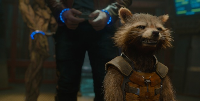 "Bradley Cooper voices Rocket Raccoon in ""Guardians of the Galaxy."" (Photo courtesy of Marvel/Disney)"