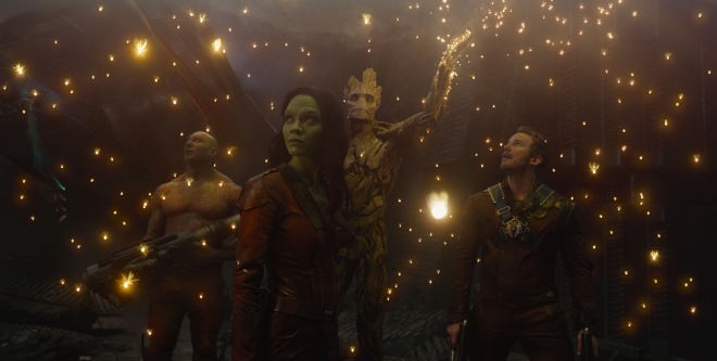 """Box-office kings (and queen... and raccoon... and lovable plant monster). """"Guardians of the Galaxy"""" is No. 1 at the Philippine box office. (Photo courtesy of Marvel/Disney)"""