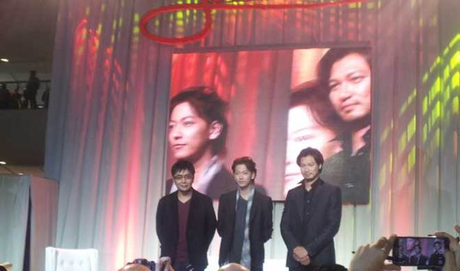 "'Rurouni Kenshin"" director Keishi Otomo and actors Takeru Satoh and Munetaka Aoki"