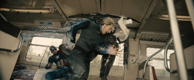 This is so 2014, but I still can't wait to see which Quicksilver is better. Personally, I think I'll like Evan Peters more... (Photo courtesy of Marvel Studios)